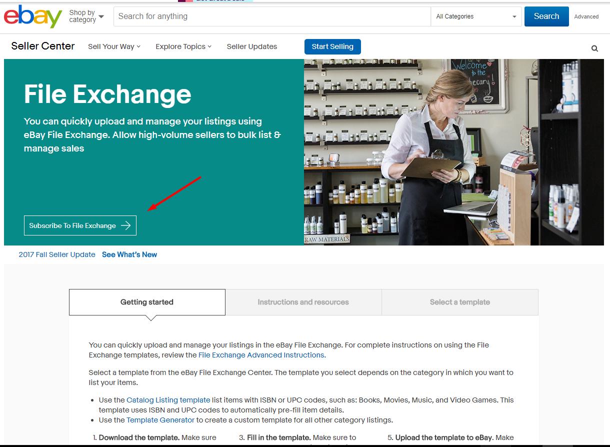 Export Listings Using Ebay File Exchange